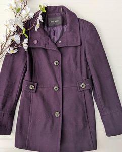 Nine West Purple Wool Blend Peacoat